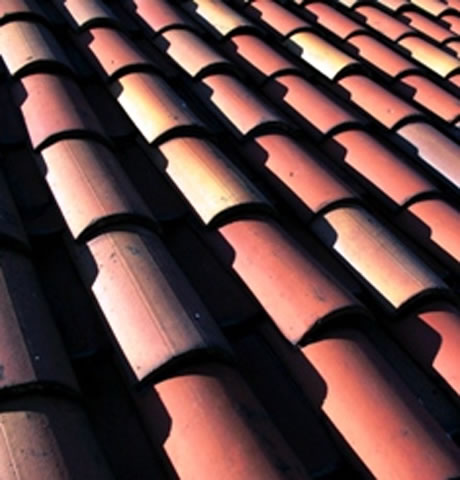 tile roof closeup