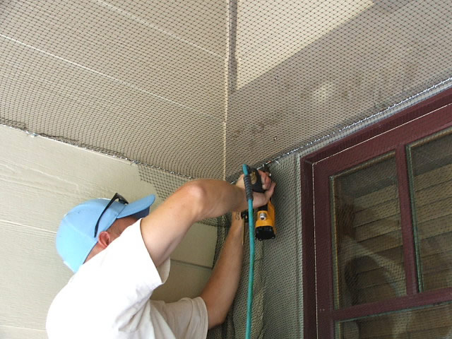 Allstate Animal Control, installing bird netting