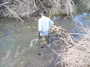 trapper in river