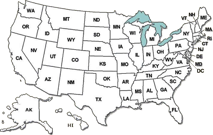 Nationwide Animal Control Map of USA States, Cities and Counties